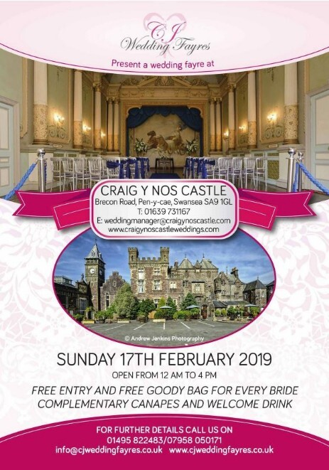 Wedding Fair at Craig y Nos Castle 27th Feb 2019