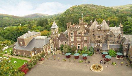 Wedding Venue Craig y Nos Castle Aerial View