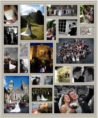 Wedding Montage of pictures taken of weddings at Craig y Nos Castle South Wales Wedding Venue