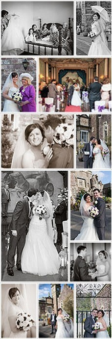 Ann Lewis Wedding Photography collage of wedding photos at Craig y Nos Castle South Wale