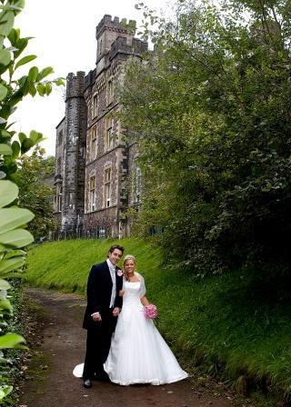 Bride and Groom South Wales Wedding Venue Craig y Nos Castle