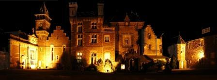 London Wedding Venue options Craig y Nos Castle in South Wales at Night