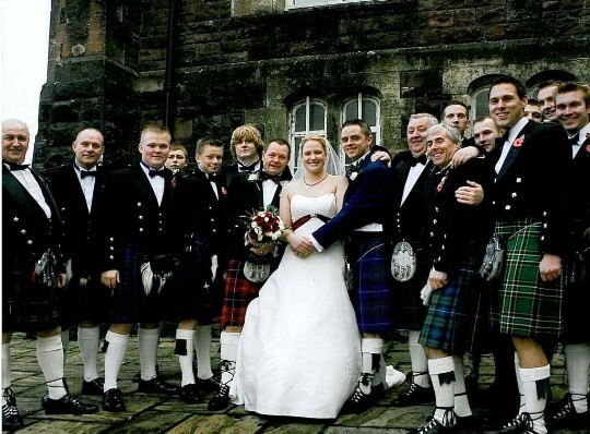 Wedding Planner Guide, Wedding Guests and Couple on Theatre Terrace at Craig y Nos Castle