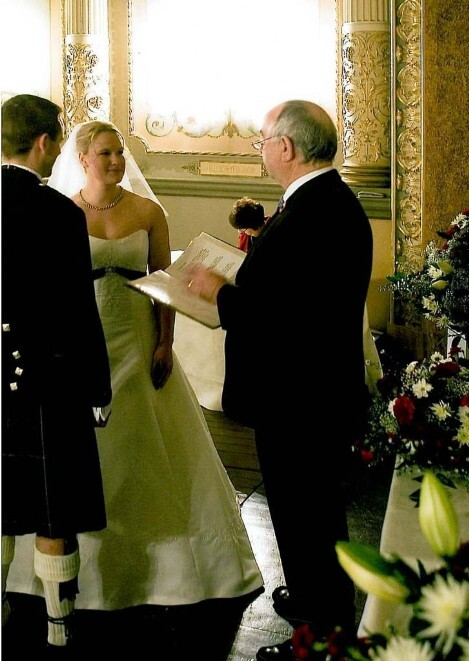 Wedding Planner Book, Wedding Ceremony, Registrar marries Couple at Craig y Nos Castle