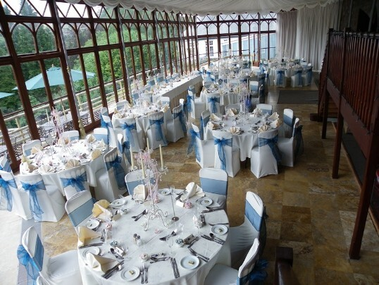 Craig y Nos Castle Wedding Venue Swansea Conservatory Wedding Breakfast