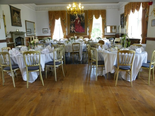 Craig y Nos Castle Wedding Venue Evening Function Room newly laid character oak flooring