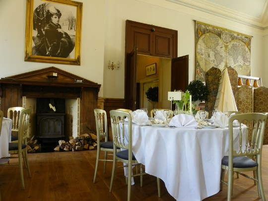 Craig y Nos Castle Wedding Function Room and fireplace