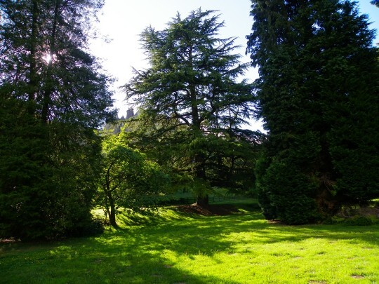 Lower Gardens of Craig y Nos Castle in Powys, South Wales
