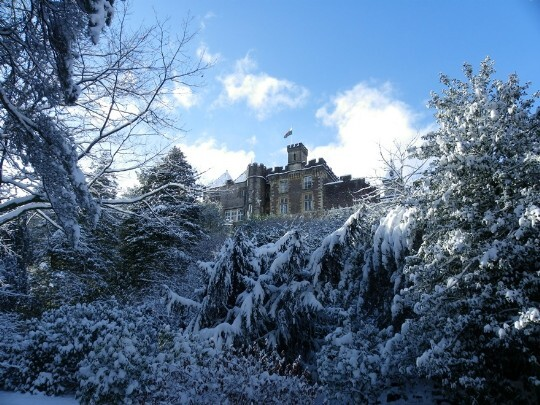 Craig y Nos Castle Winter Wedding scenery