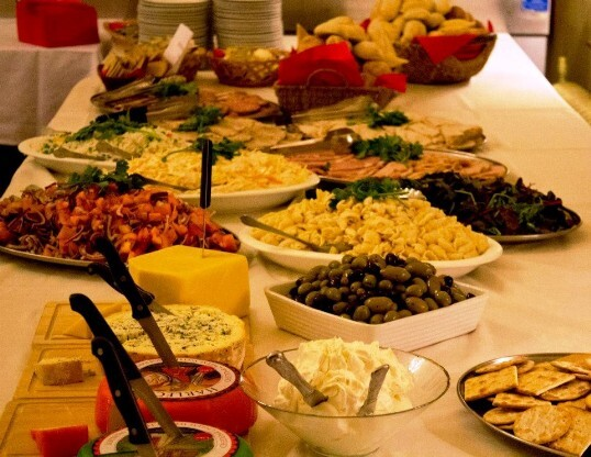 Mixed Buffet including small cheese board South Wales Wedding Venue Craig y Nos Castle