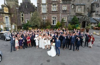 Craig y Nos Castle courtyard by Gareth Jones Wedding Photographer