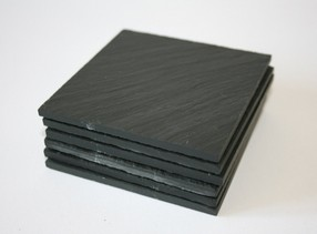 Inigo Jones Slateworks black slate table mats
