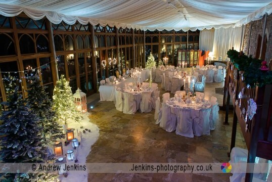 The Conservatory Wedding Banqueting room at Craig y Nos Castle by Jenkins Photography