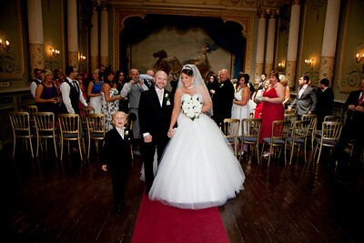 Craig y Nos Castle Theatre bride and groom by Kevin John Photography