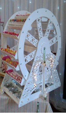Little Luxurys Swansea Wedding Candy Cartwheel