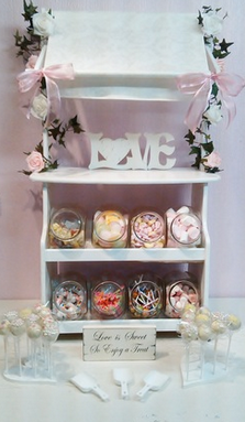 Little Luxurys Swansea Wedding Candy Cart Table Stand