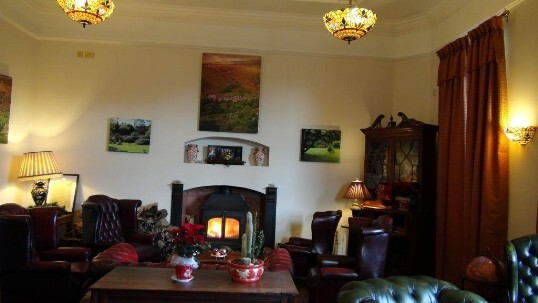Guest Lounge the Nicolini room at Craig y Nos Castle in the Upper Swansea Valley, Powys, South Wales