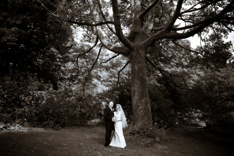Wedding Photography by Nigel Pullen Photography, Couple in lower gardens at Craig y Nos Castle