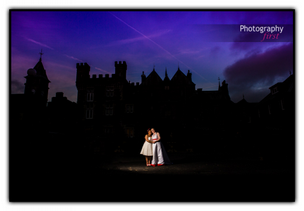 Photography First Wedding Photography Couple in front of Craig y Nos Castle in South Wales