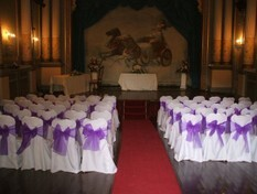 Francis Design Wedding Chaircovers Swansea Craig y Nos Castle Wedding Ceremony Room