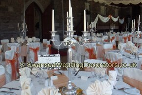 Cake Decorating Course Swansea : Chair Covers - Weddings in Wales at Craig y Nos Castle