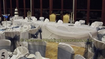 Chair Covers - Weddings in Wales at Craig y Nos Castle