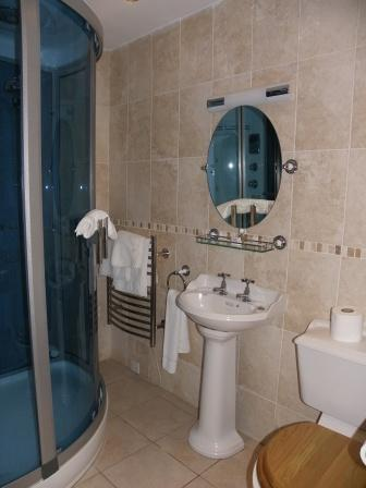 Wedding Venues South Wales - Craig y Nos Castle small shower en-suite