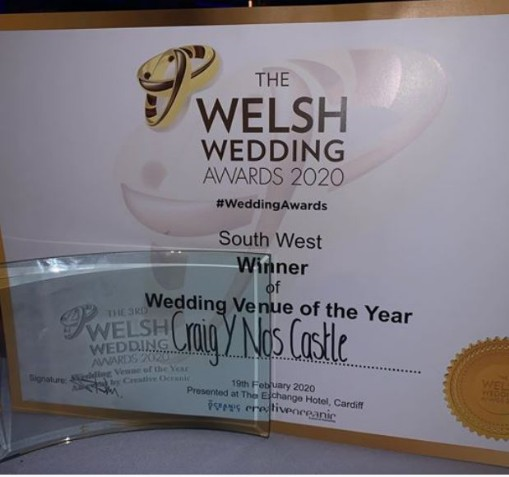 Welsh wedding awards winner Craig y Nos Castle